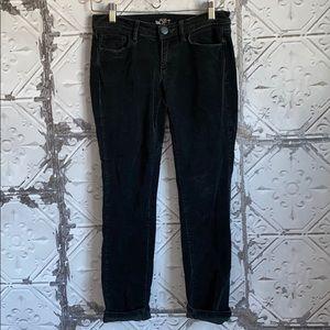 Black corduroy grunge skinny jeans